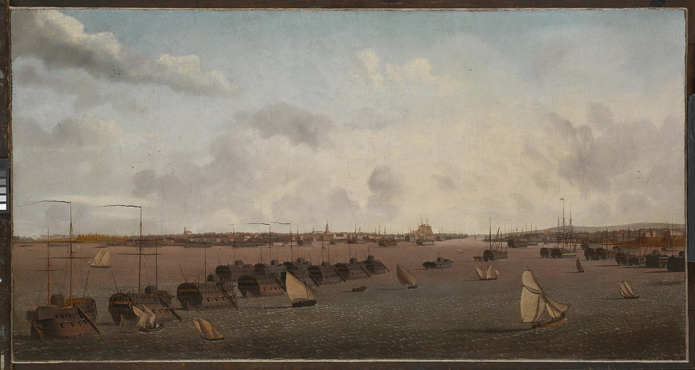 Les pontons de Portsmouth de Louis Garneray, 1814.