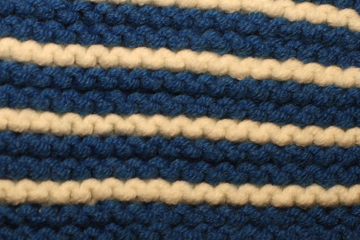 Knitting Garter Stitch Right Side : Basic knitted fabrics - Wikipedia