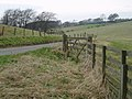 Gate beside minor road near Yorkston - geograph.org.uk - 159132.jpg