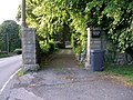 Gateway to Cwmavon House with the A4043 running to the side - geograph.org.uk - 469958.jpg