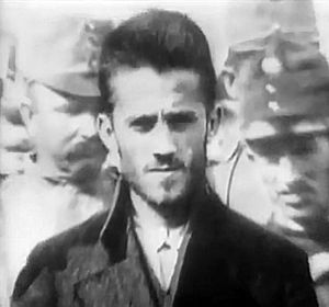Black Hand (Serbia) - Gavrilo Princip shot Archduke Ferdinand. Photographed outside the courthouse.
