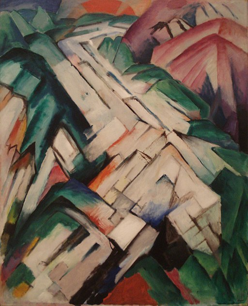Mountains by Franz Marc