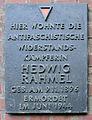 Gedenktafel Küselstr 9 (Prenzl) Hedwig Rahmel.jpg