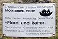 Gedenktafel Meißner Str (Moritzburg) Pferd und Reiter Peter Fiedler 2002.jpg