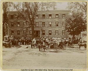 Geneva Hall and Trinity Hall, Hobart & William Smith College - Geneva Hall in 1896