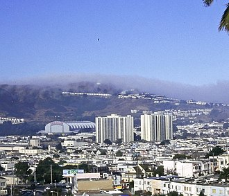 Visitacion Valley, San Francisco - Geneva Towers and Cow Palace, 1996