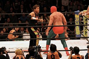 "Genichiro Tenryu - Image: Genichiro Tenryu punching one of the ""Sharp Brothers"""