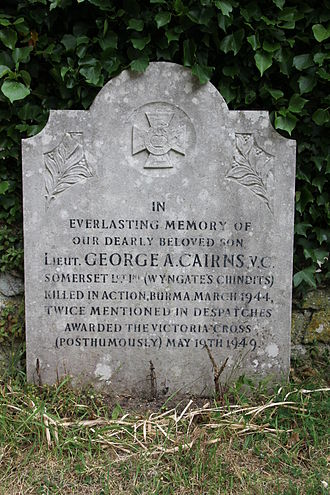 St Mary's Church, Brighstone - Memorial to George Cairns VC.