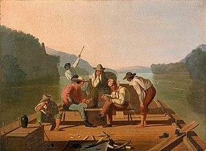 George Caleb Bingham - Depicting raftsmen playing cards.jpg