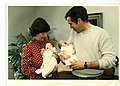 George W. Bush and Laura Bush Holding Jenna Bush and Barbara Bush as Babies.jpg