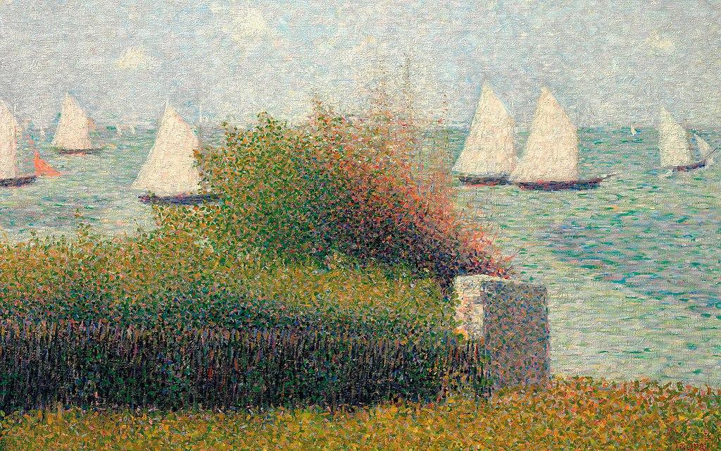 Georges Seurat - La rade de Grandcamp (Le port de Grandcamp).jpg