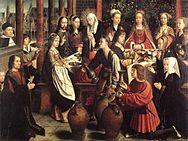 Marriage At Cana C 1500 Gerard David Musée Du Louvre Paris