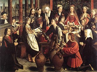 Marriage at Cana - Image: Gerard David The Marriage at Cana WGA6020