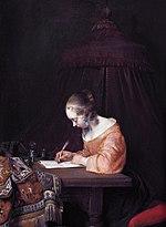 Schrijvende Vrouw In Het Geel Wikipedia