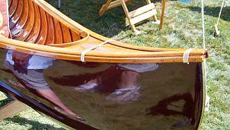 E.H. Gerrish Canoe Company - Gerrish canoe with alternate deck style