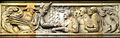 Geschichtsfries am Neuen Rathaus Hannover, 1837, Ernst August wird nach dem Ende der Personalunion mit England von Stadtdirektor Rumann in Hannover empfangen, August Waterbeck.jpg