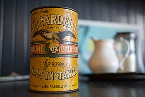 Ghirardelli Chocolate Company - A can of chocolate from the 20th century