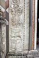 Giovanni antonio amadeo, facciata della cappella colleoni, 1472-75, portale centrale, base del pilastro sx.JPG