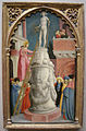 Giovanni d'alemagna, sant'apollonia distrugge un idolo pagano, 1442-45 circa.JPG