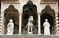 Giovanni da campione, protiro di s. maria maggiore a bergamo, 1350, 03 s. alessandro a cavallo tra i ss. barnaba e vincenzo.JPG