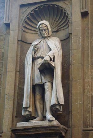 Giovanni Villani - Statue of Giovanni Villani in the Loggia del Mercato Nuovo