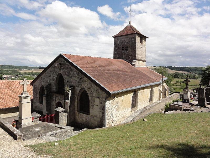 Givrauval (Meuse) église Saint Quentin