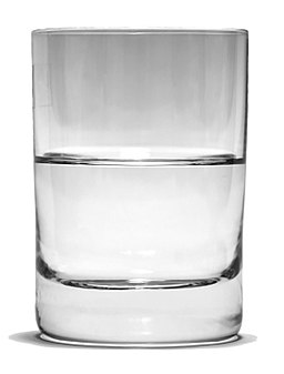 Glass Half Full bw 1