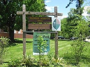 Glenside Memorial Hall - Image: Glenside hall sign