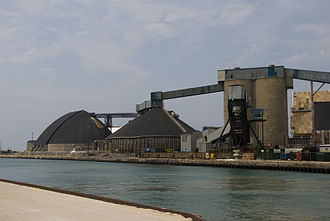 Goderich, Ontario - Salt mining is an important economic activity in Goderich.