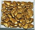 Gold fluvial pebbles (placer gold) (Washington State, USA) 2 (17031930341).jpg