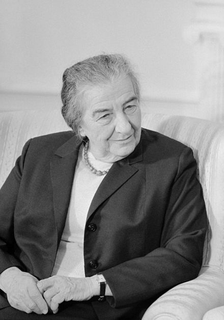 Upon learning of the impending attack, Prime Minister of Israel Golda Meir made the controversial decision not to launch a pre-emptive strike. Golda Meir2.jpg