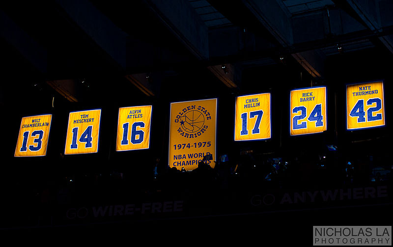 File:Golden State Warriors retired jersey.jpg