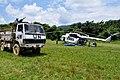 Goma, Nord-Kivu, RD Congo- Un hélicoptère MI-8 des casques bleus Ukrainiens délivre des provisions au contingent indien. (24171542169).jpg