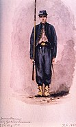 Goslin Zouave, 95th Regiment, Private (1861), by Xanthus Smith