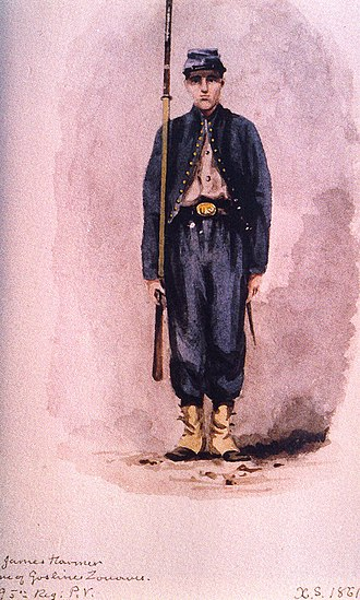 Xanthus Russell Smith - Image: Goslin Zouave, 95th Regiment, Private (1861), by Xanthus Smith