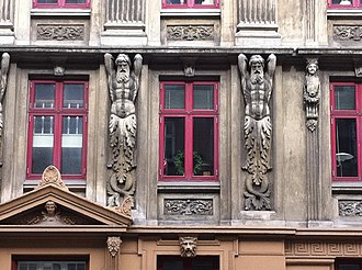 Gothersgade - Facade detail near the Lakes