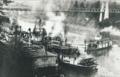 Grahamona and other steamboats at Oregon City circa 1916.png