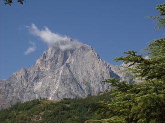 Gran Sasso d'Italia - Corno Grande in the chain of Gran Sasso.