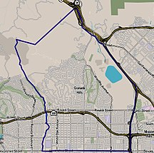 Granada Hills, California, map.jpg