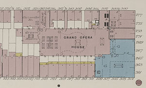 Grand Opera House (Manhattan) - Detail from map published in 1899