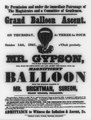 Grand balloon ascent, on Thursday, October 14th, 1841 ... Mr. Gypson, (from the Royal Zoological Gardens, London), will make his forty-fifth and last ascent this season LCCN2002724867.tif