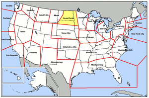 Grand Forks Air Defense Sector - Map of Grand Forks ADS