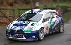 World Rally Championship-2 - Fiat Grande Punto Abarth S2000, one of the most popular Super 2000 rally cars