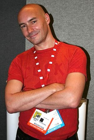 Grant Morrison - Grant Morrison at the 2006 San Diego Comic-Con International.