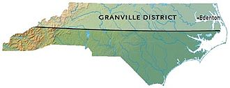 Province of North Carolina - The dividing line showing the area managed by the descendants of George Carteret