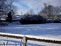 Grassy Patch covered in Snow outside Visitor Centre - panoramio.jpg