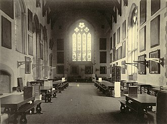 University College, Durham - The Great Hall of University College in the late 19th century