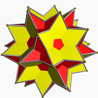 Great icosidodecahedron polyhedron with 32 faces