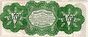 "National Bank Act - A ""greenback"" note issued by the U.S. during the Civil War"