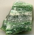 Greenlandite (fuchsite-quartz gneiss) (Eoarchean, 3.8 Ga; Godthabsfjord area or Nuuk area of southwestern Greenland) (14882301487).jpg